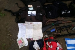 Personal documents and police Uniforms found at the Amba Camp