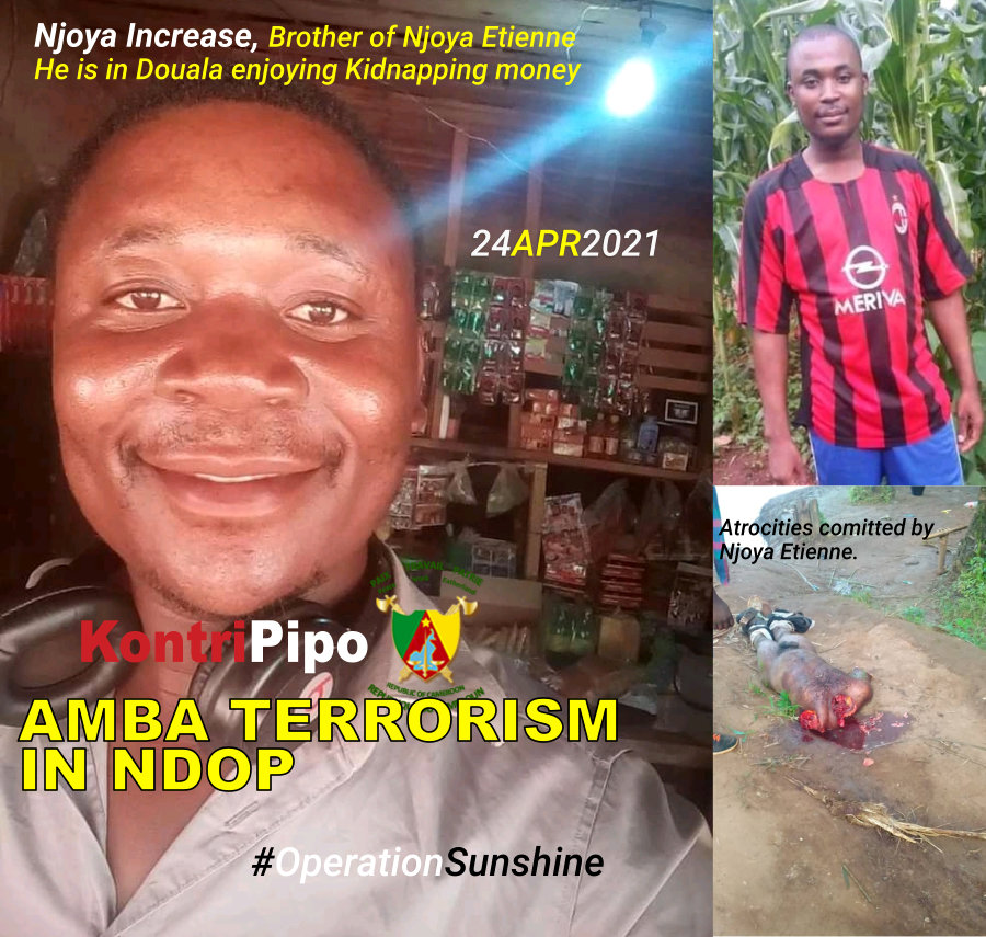 Njoya Increase, Brother of Njoya Etienne amb a terrorist